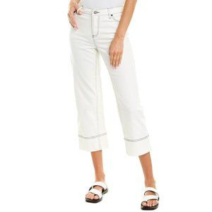 NWT Vince Camuto White Cropped Wide Leg Jeans 6